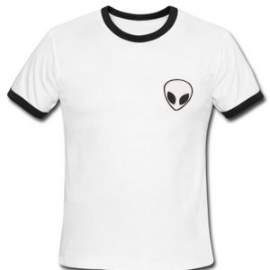 Alien White Ringer T-Shirt