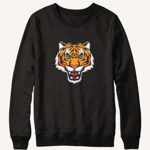 Tiger Head Black Sweatshirt