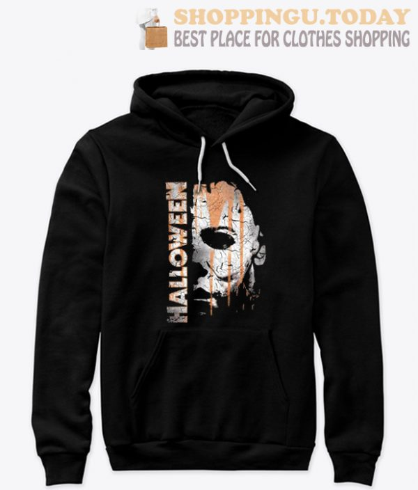 New Cute Halloween Michael Myers Mask And Drips Hoodie