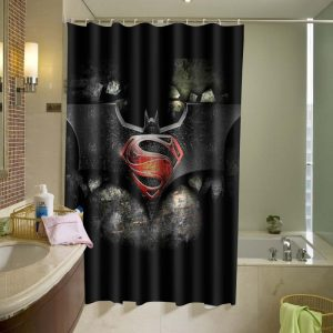Batman vs Superman Logo Shower Curtain