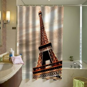 Beautiful Eiffel Tower Shower Curtain