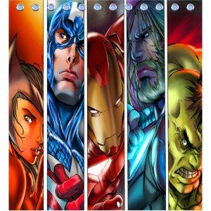 Iron Man Marvel Shower Curtain