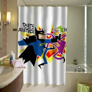 batman vs joker shower curtain