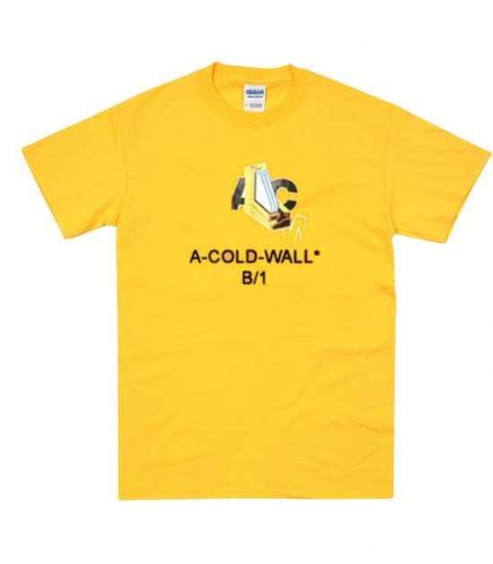 A Cold Wall B1 Yellow T-Shirt
