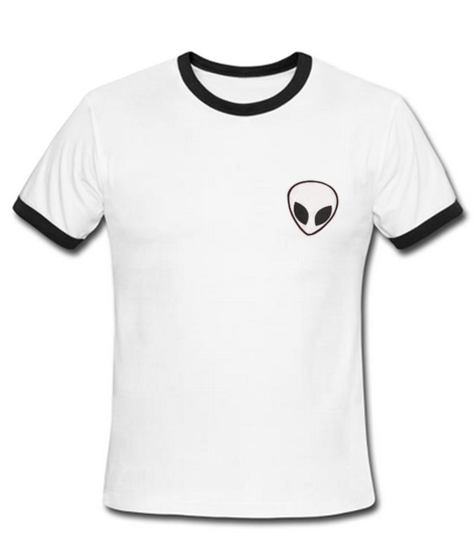 Alien White Ringer T-Shirt