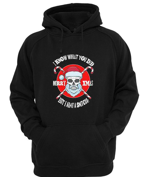I know what you Did Christmas Hoodie