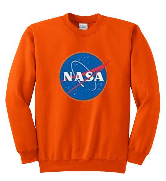 NASA Logo in Orange Sweatshirt
