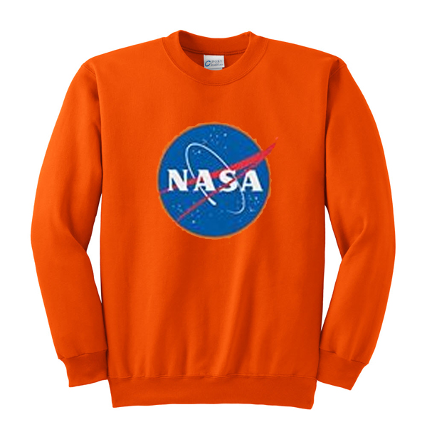 NASA Logo in Orange Sweatshirt