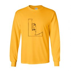 Smoking Girl Yellow Sweatshirt