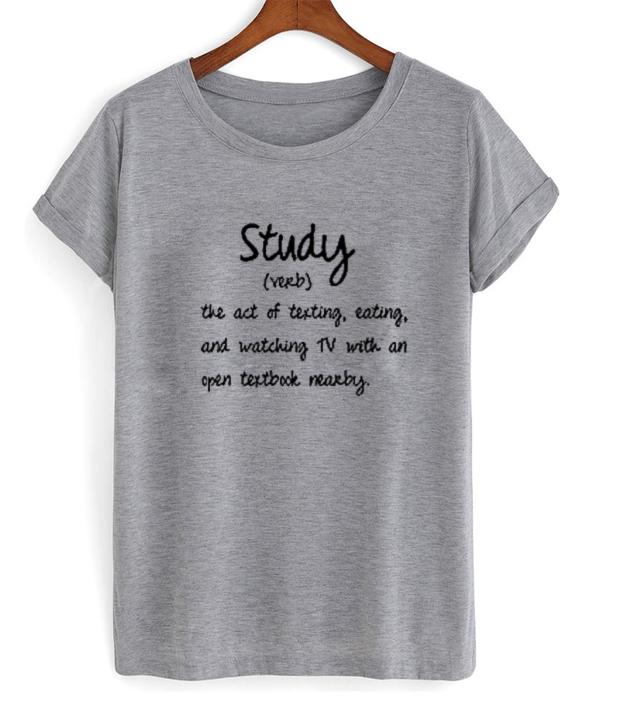 Study Verb T-Shirt