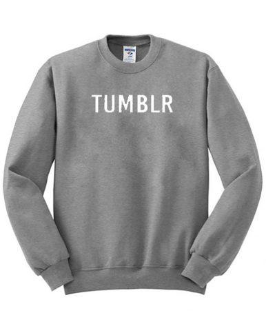 Tumblr Grey Unisex Sweatshirt