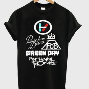 Twenty One Pilots Panic At The Disco Green Day T-Shirt