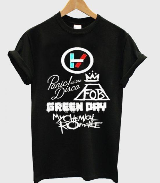Twenty One Pilots Panic At The Disco Green Day T-Shirt