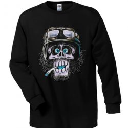 black skull monkey sweatshirt
