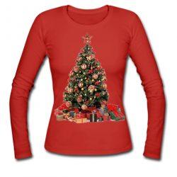 Christmas Tree Red Sweatshirt