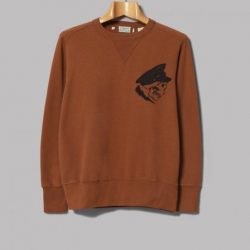 Kidd Keo Skull Brown Sweatshirt