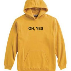 OH YES Yellow Hoodie