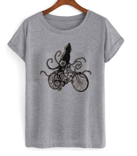 Squid on a Bike Tshirt