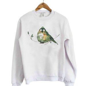 Awkward watercolor bird sweatshirt