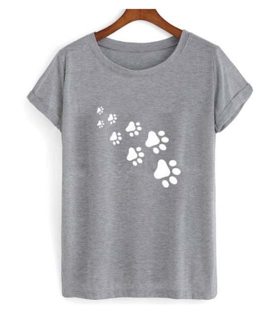 Cat Paws Print T Shirt
