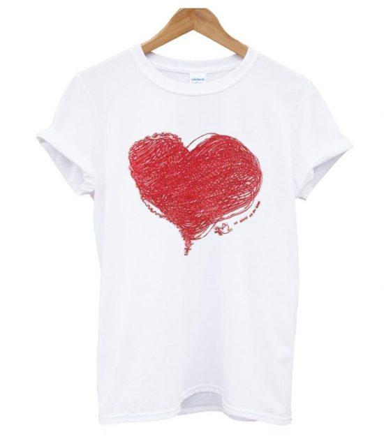 Heart print love T Shirt