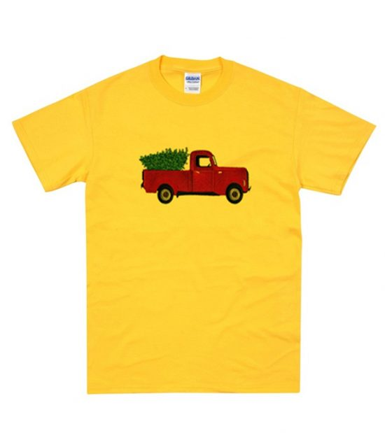 Red Truck in Yellow T-Shirt