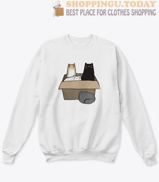 4 Cats in a Box Sweatshirt