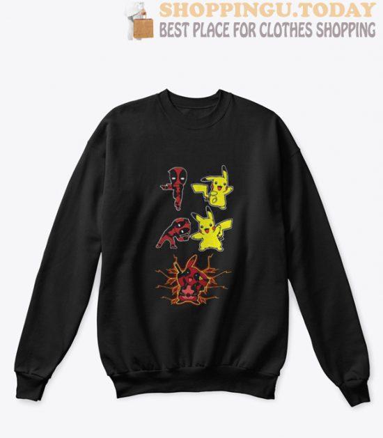 Deadpool and Pikachu fusion dance Pikapool sweatshirt