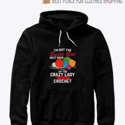 I'm The Crazy Lady Crochet Hoodie