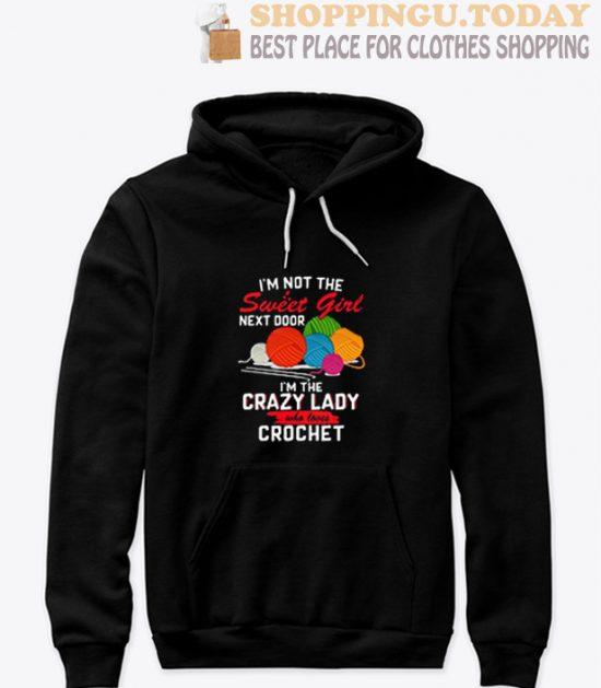 I'm The Crazy Lady Crochet Hoodie
