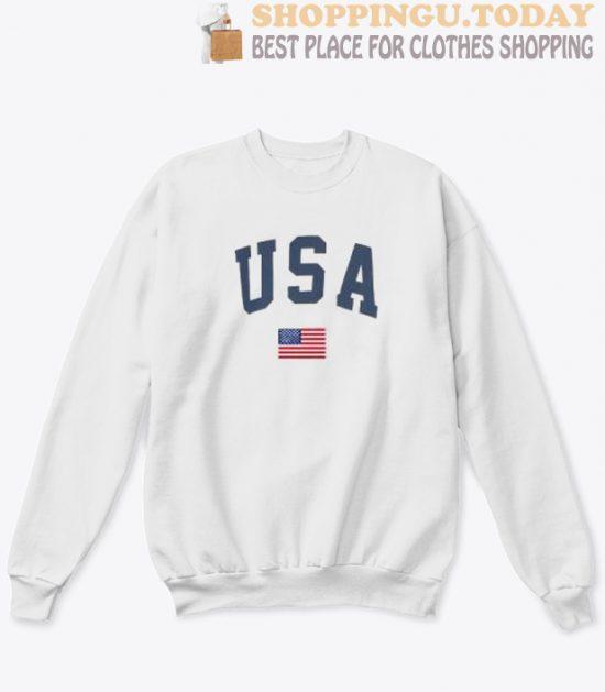 USA and Flag Sweatshirt