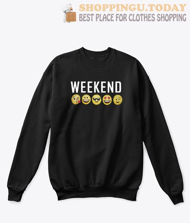 Weekend Emoji Sweatshirt