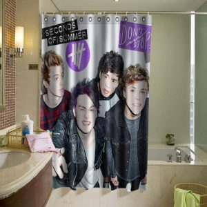 5 Second of Summer 5SOS 5 SOS Shower Curtain