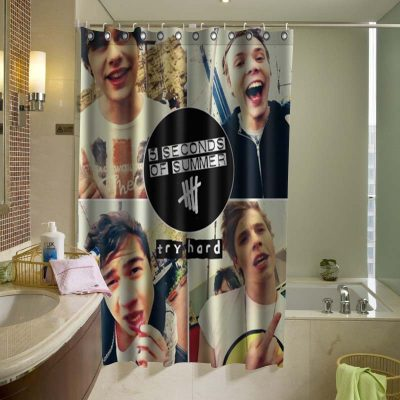 5 Second of Summer 5SOS Shower Curtain