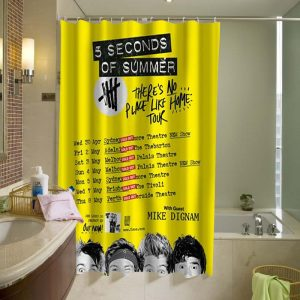 5 Seconds of Summer 5SOS Shower Curtain