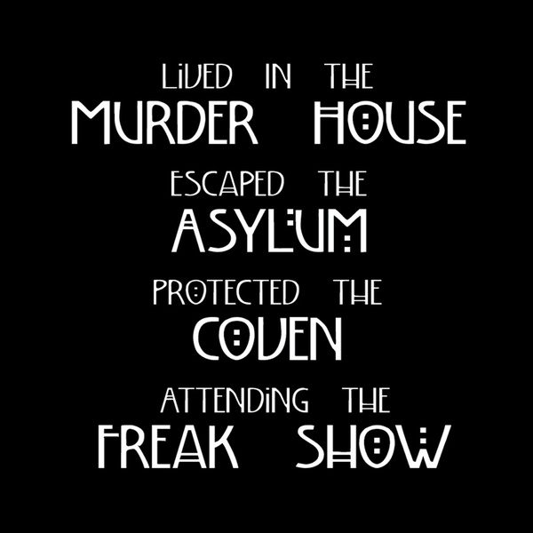 American Horror Story Four Seasons Art Print Shower Curtain