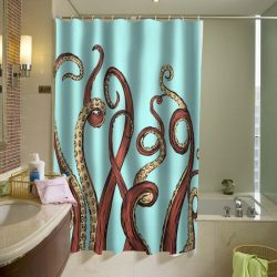 Aqua Octopus Shower Curtain