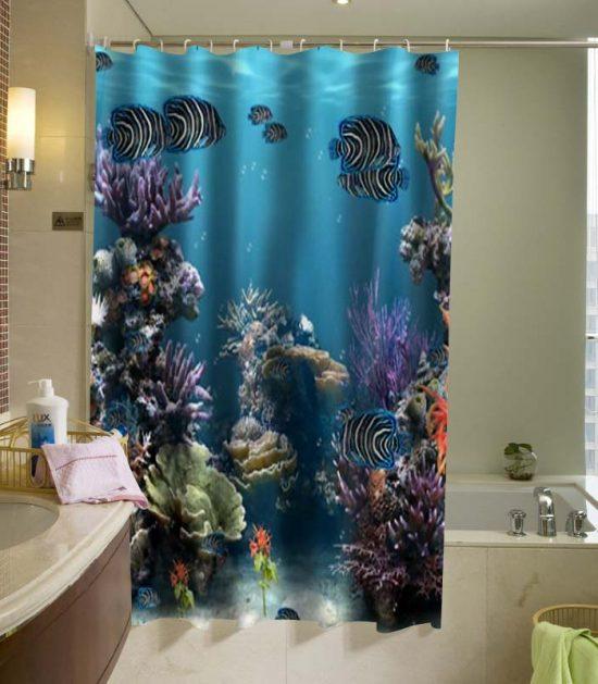 Aquarium Ocean Shower Curtain