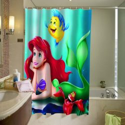 Ariel Flounder the little mermaid Shower Curtain