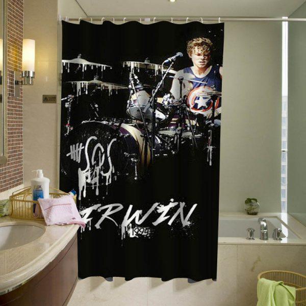 Ashton Irwin curtain, 5sos Luke Hemmings Shower Curtain