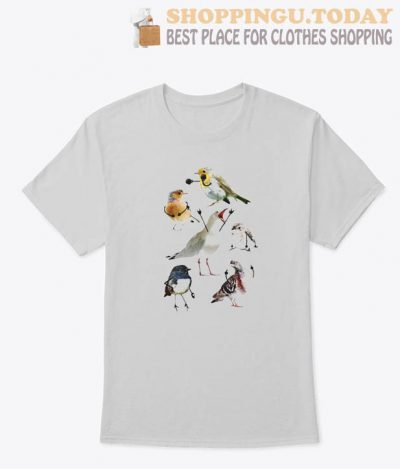 BIRDS WITH ARMS T SHIRT