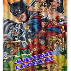Its Justice League Superhero Shower Curtain