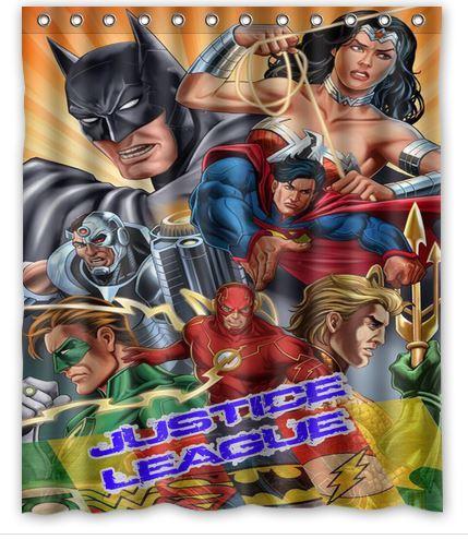 Its Justice League Superhero Shower Curtain