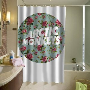arctic monkeys logo flower shower curtain