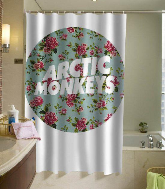 arctic monkeys logo flower shower curtain