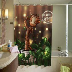 baby-groot-Shower-Curtain