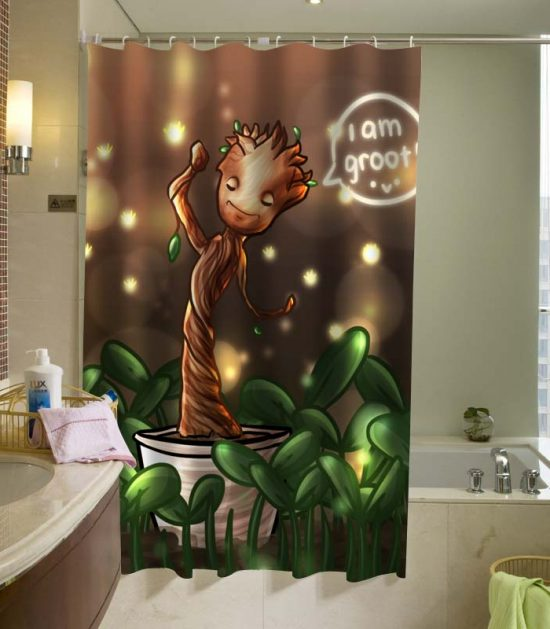 baby-groot-Shower-Curtain