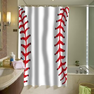 ball baseball shower curtain