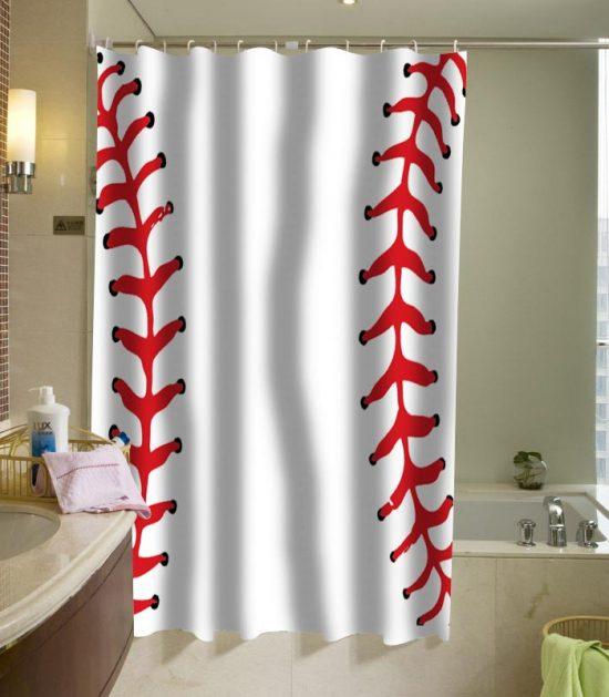 ball baseball shower curtain