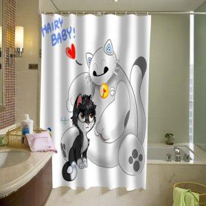 baymax and hiro Shower Curtain